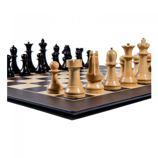 Piese sah lemn Staunton 6 World Chess Design cu Tabla Wenge Barcelona 2