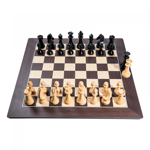 Piese sah lemn Staunton 6 World Chess Design cu Tabla Wenge Barcelona imagine