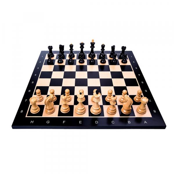 Piese Staunton 6 Zagreb cu tabla negru/artar 2
