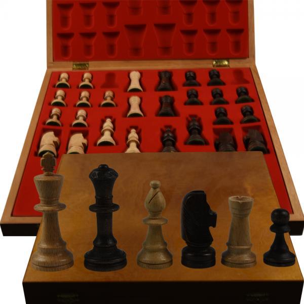 Piese lemn Staunton 5 in cutie Lux 1