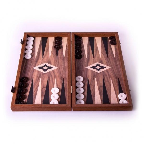 Set joc table/backgammon Walnut with Black &Oak points/Replica  48 x 50 cm 0