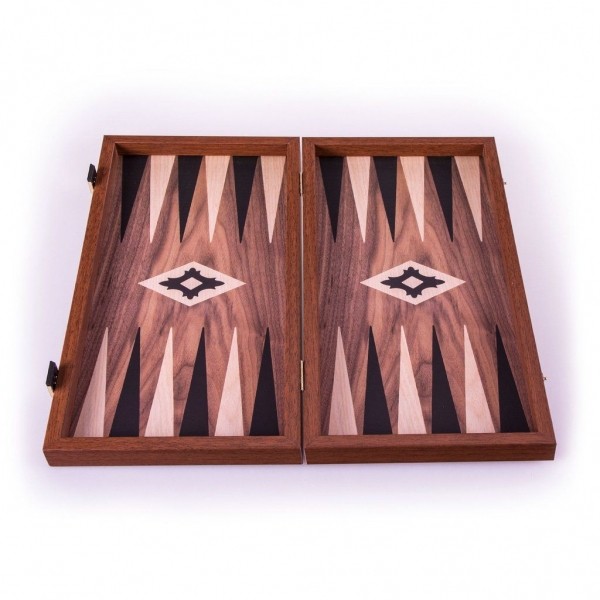 Set joc table/backgammon Walnut with Black &Oak points  48 x 50 cm 2