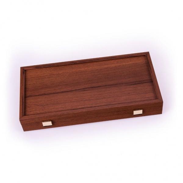Set joc table/backgammon Walnut with Black &Oak points/Replica  48 x 50 cm 2