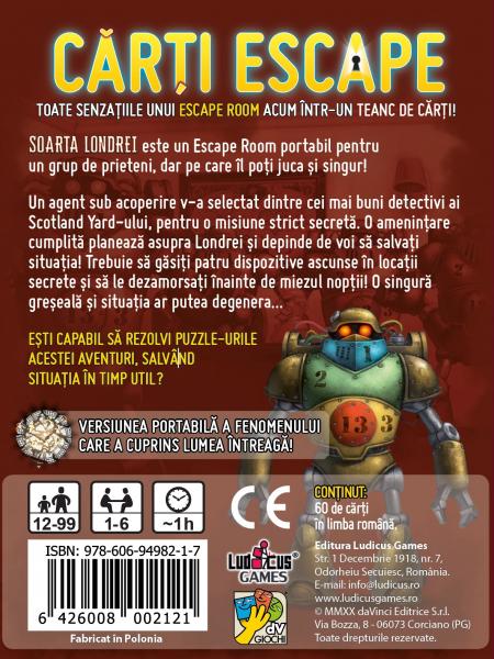 Cărți Escape Ed. II- Soarta Londrei 2