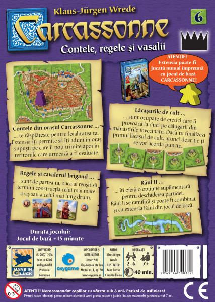 Carcassonne, extensia 6: Contele, regele și vasalii 2