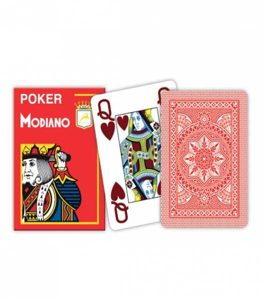 Carti de joc 100% plastic Poker  Cristallo 1