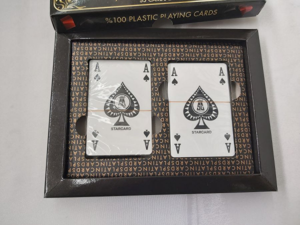 Carti de joc 100 % plastic Star Platin 1
