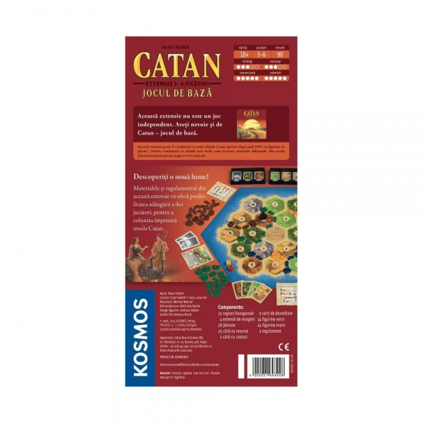 CATAN - extensie 5/6 jucatori la jocul de baza 1