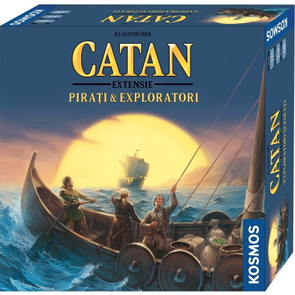 CATAN - extensie Pirati Exploratori 3 4 jucatori