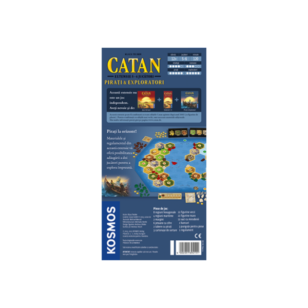 CATAN - extensie Pirati & Exploratori 5/6 jucatori 1
