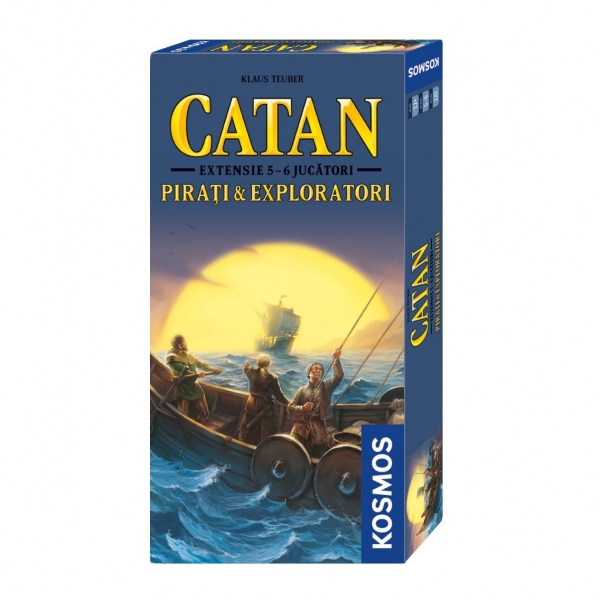 CATAN - extensie Pirati Exploratori 5 6 jucatori