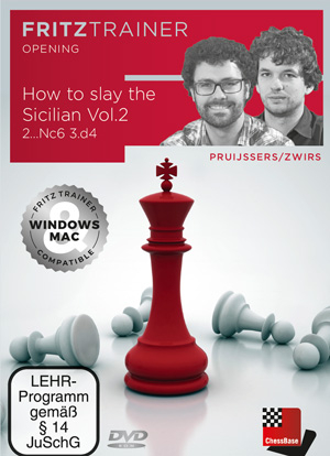 DVD : How to slay the Sicilian Vol. 2 -  2...Cc6 3. d4 - Pruijssers / Zwirs 0