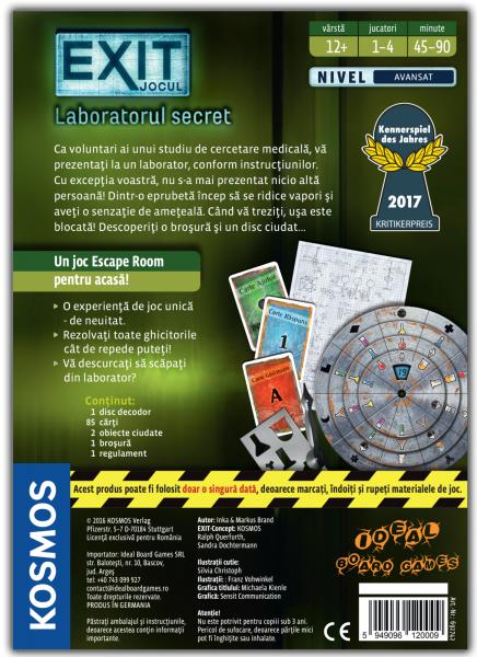 EXIT - Laboratorul Secret 2