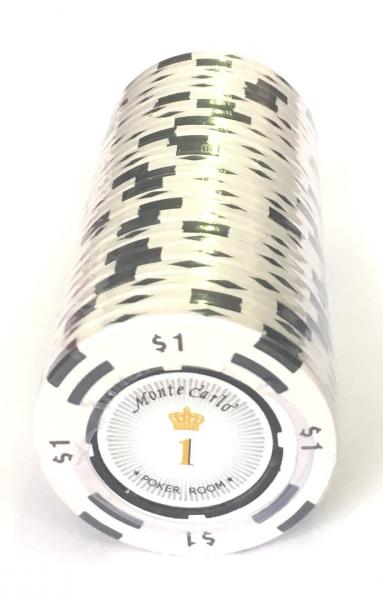 Jeton Poker Montecarlo 14 grame Clay, inscriptionat 1 0
