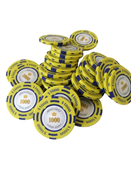 Jeton Poker Montecarlo 14 grame Clay, inscriptionat 1000 0