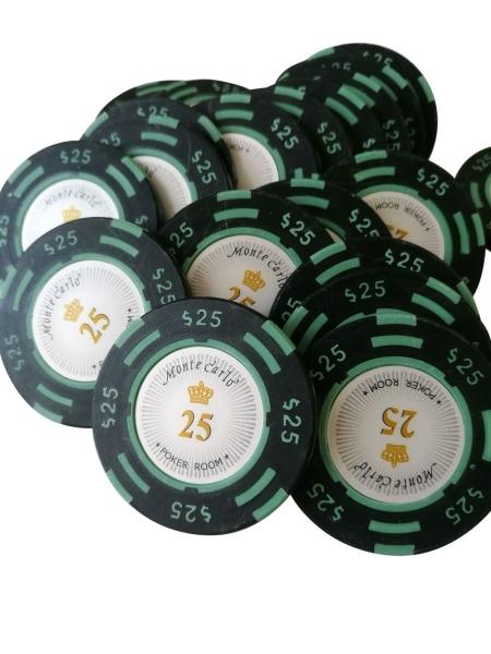 Jeton Poker Montecarlo 14 grame Clay, inscriptionat 25 0