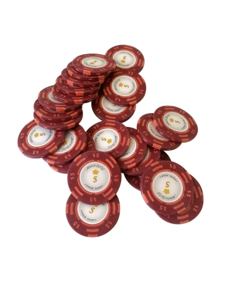 Jeton Poker Montecarlo 14 grame Clay, inscriptionat 5 0
