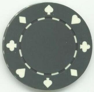 Jeton poker Suit 11.5g - Culoare Gri 0
