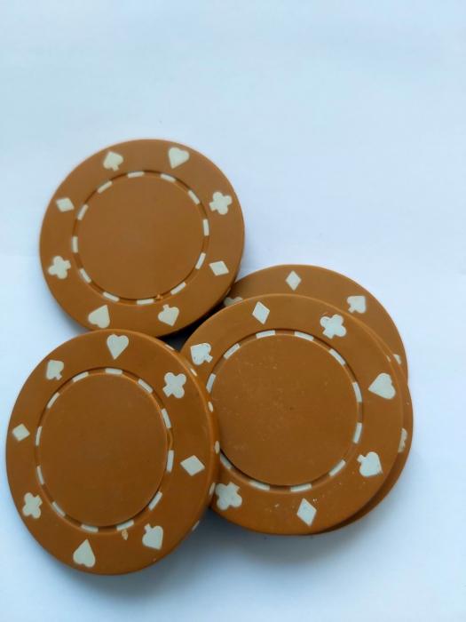 Jeton poker Suit 11.5g - Culoare Maro 1