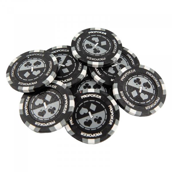 Jeton Pro Poker - Clay - 14g - Culoare Gri, inscriptionat (1) [0]