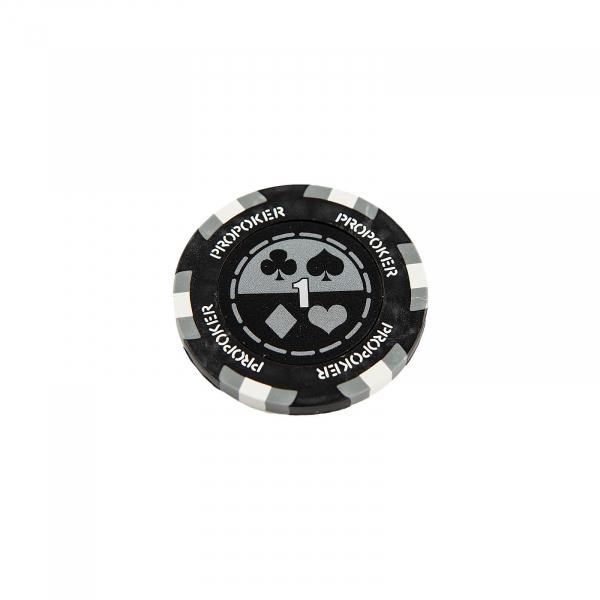 Jeton Pro Poker - Clay - 14g - Culoare Gri, inscriptionat (1) [1]