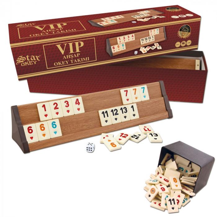 Joc remi / rummy din lemn VIP Star [2]