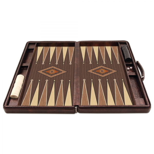 Joc table/backgammon - Star Leather (Imperfect) - Mare - 48x60 cm 2