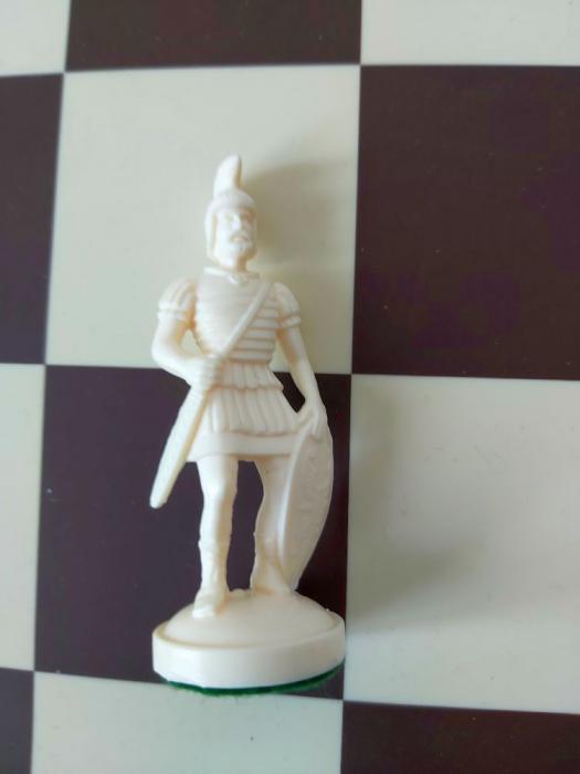 Nebun alb rezerva pentru setul tematic din plastic Roma Antica [0]