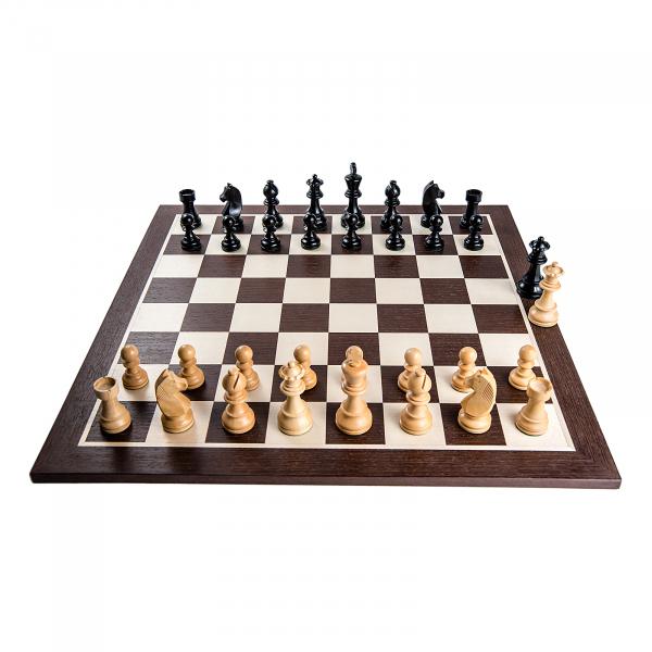Piese sah Staunton 6 Clasic Black cu tabla sah lemn wenge 1