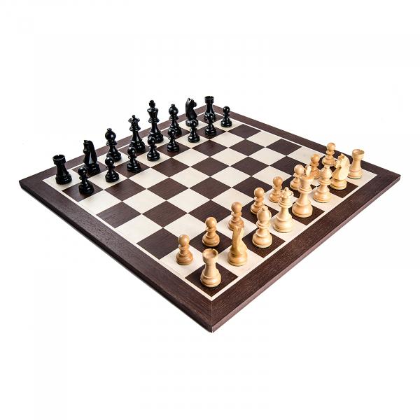 Piese sah Staunton 6 Clasic Black cu tabla sah lemn wenge 0