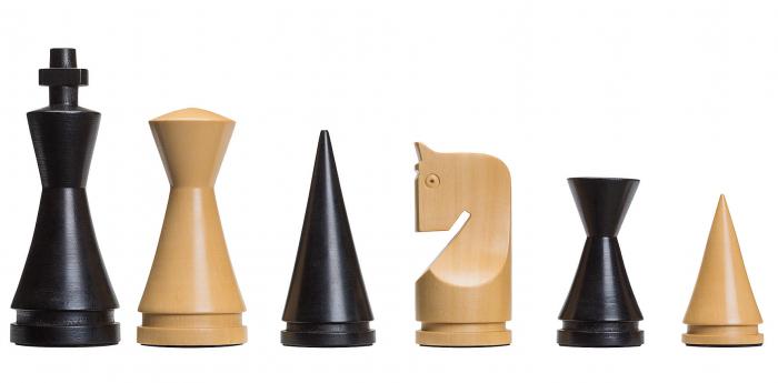 Piese de sah electronice din lemn Staunton Modern (cu greutate) [0]