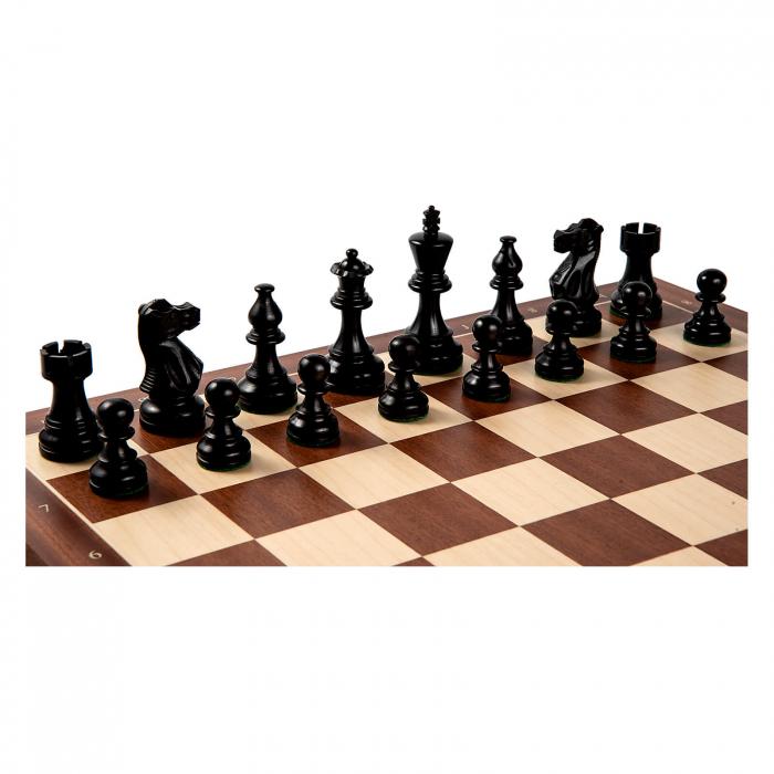 Piese sah American Staunton 6 Black cu tabla mahon no. 6 Rechapados 0