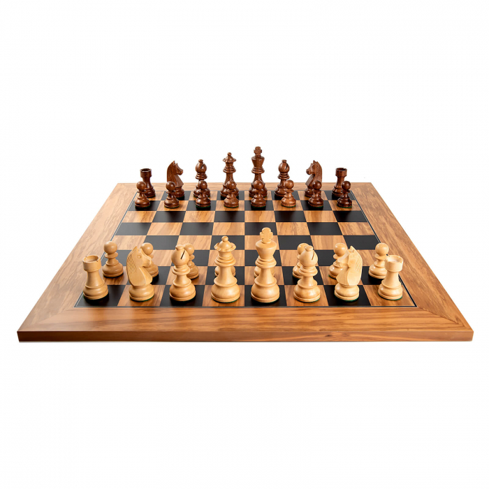 Piese sah Staunton 5 Clasic cu tabla de sah maslin no. 5 1