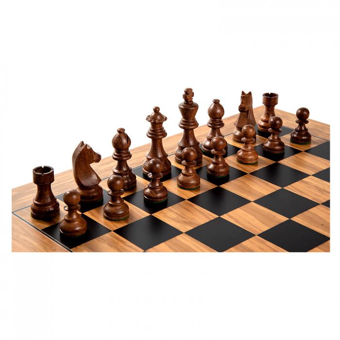 Piese sah Staunton 5 Clasic cu tabla de sah maslin no. 5 0