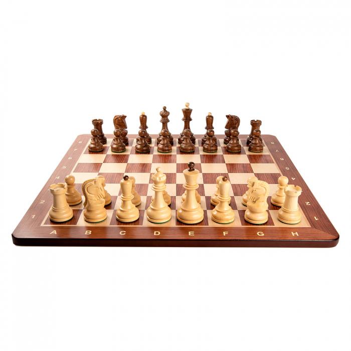 Piese sah Staunton 6 Dubrovnik cu tabla padauk no 5 [1]