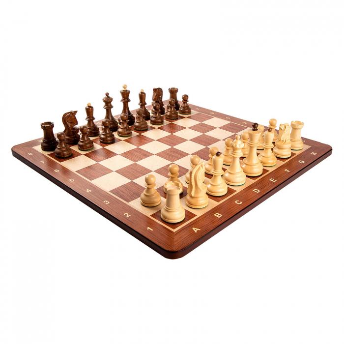 Piese sah Staunton 6 Dubrovnik cu tabla padauk no 5 [2]