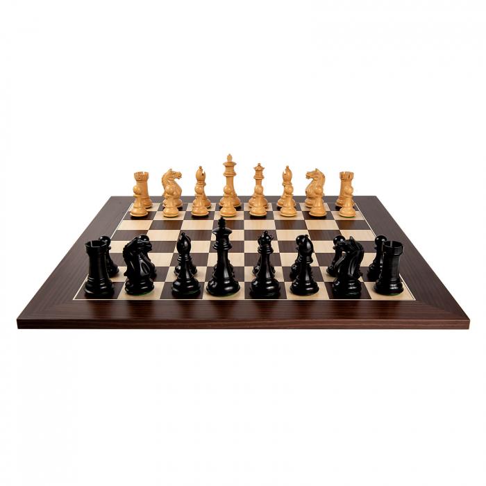 Piese sah Staunton 7 Oxford Black cu tabla macassar 3