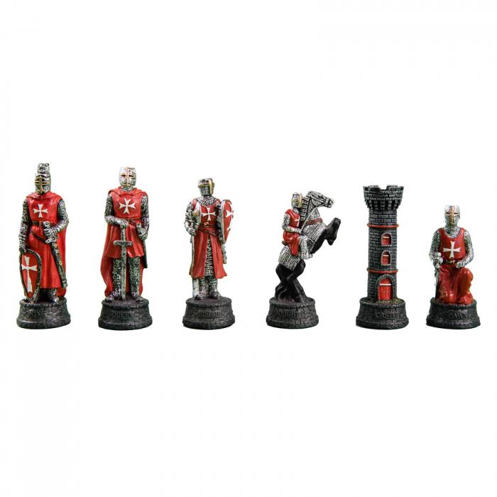 Piese sah tematice din ceramica - Cavalerii templieri 0