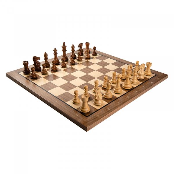 Combo Piese sah lemn Staunton 6 Tournament cu tabla sah nuc artar 0