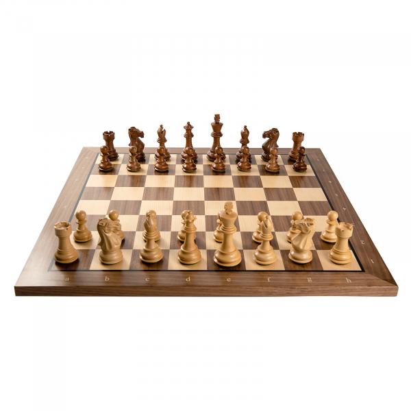 Combo Piese sah lemn Staunton 6 Tournament cu tabla sah nuc artar 1