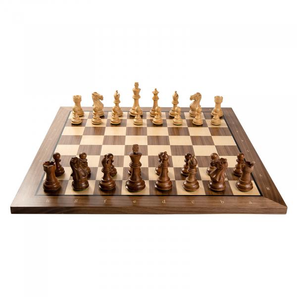 Combo Piese sah lemn Staunton 6 Tournament cu tabla sah nuc artar 2