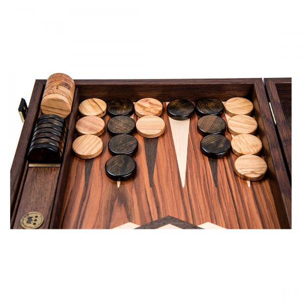 Puluri joc table din lemn de maslin - maro - d.37mm 1