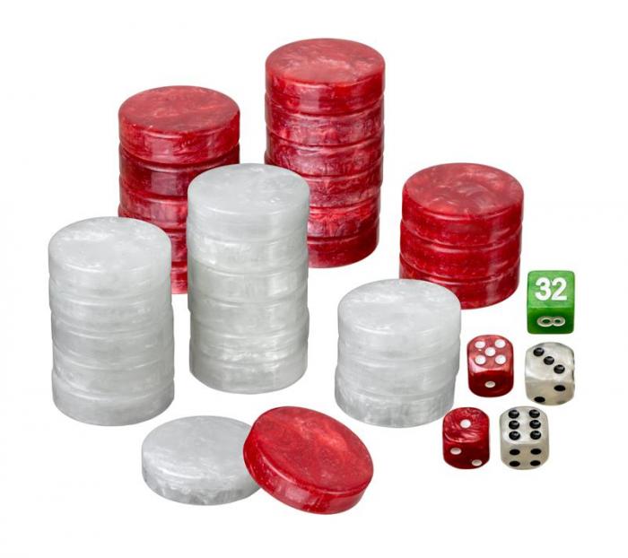 Puluri joc table - perlate rosu - d.34mm