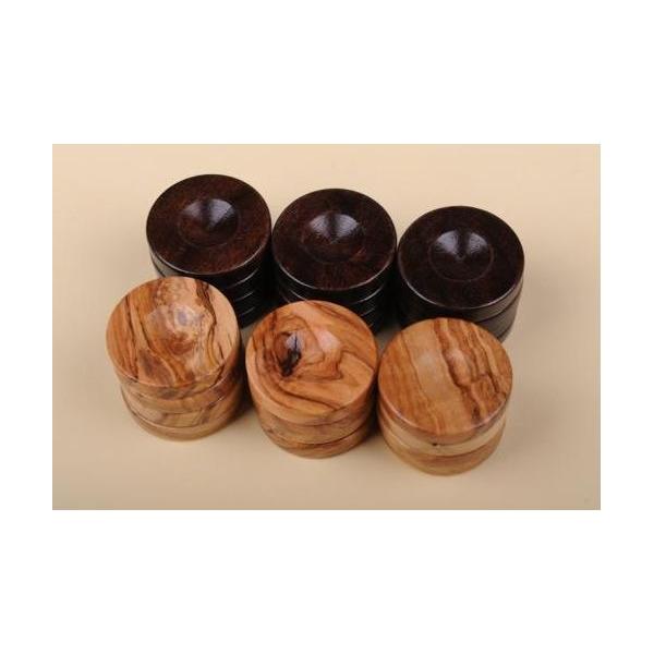 Puluri joc table din lemn de maslin - maro - d.37mm 0