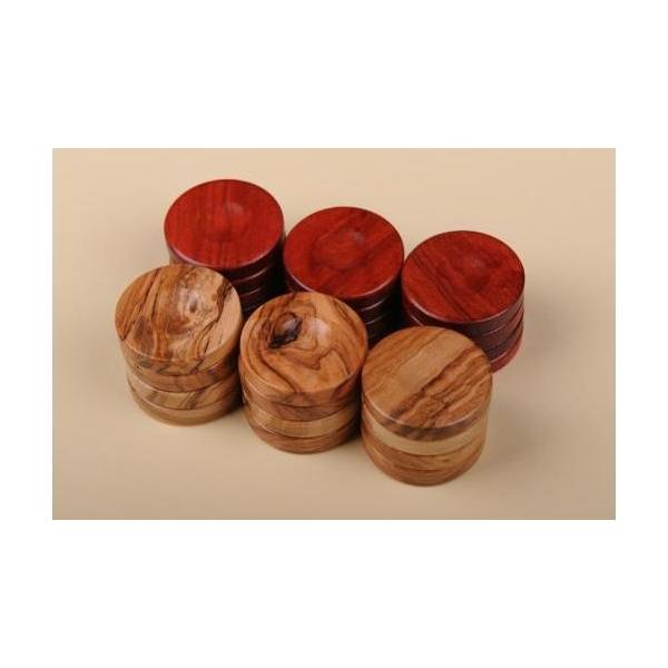 Puluri joc table din lemn de maslin - rosu - d.37mm 0