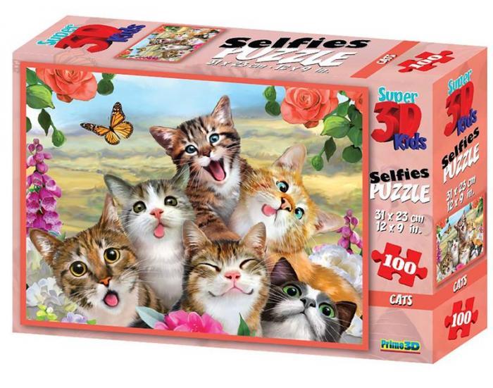 Puzzle 3D, 100 piese - Cat 0