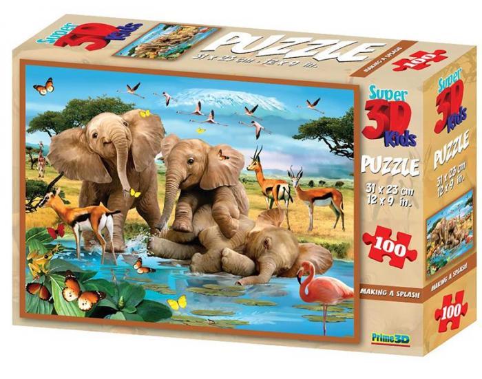 Puzzle 3D, 100 piese - Making a Splash 0