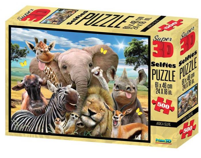 Puzzle 3D, 500 piese - Africa 0