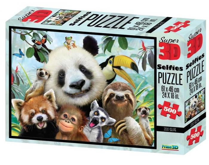 Puzzle 3D, 500 piese - Zoo imagine