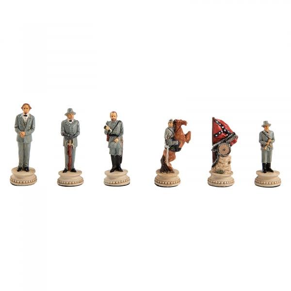 Piese sah tematice din ceramica - Razboiul Civil American (KH-4,3 cm) [1]